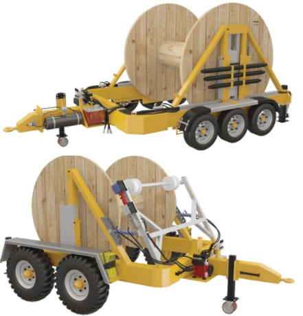 Cable Drum Trailer Contact Page  - contact us